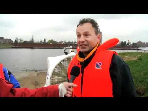 Kanaal 13 televisie , Vliegen over de Maas bij cuijk