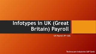 Infotypes in UK (Great Britain) payroll
