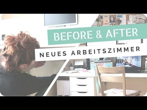 DIY // Projekt Arbeitszimmer 2017 - Vorher/Nachher