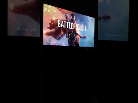 Black Friday Phillips 55in 4K tv, playing Battlefield1 on Xbox one S 4K up scale.