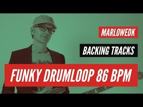 Slow funky drumloop 86 bpm