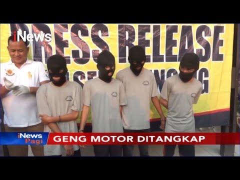 4 Anggota Geng Motor Ditangkap Polisi di Cilincing, 3 Senjata Tajam Disita - iNews Pagi 12/11