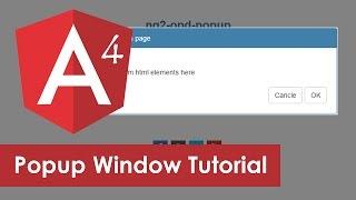 Angular Popup Modal Window Example