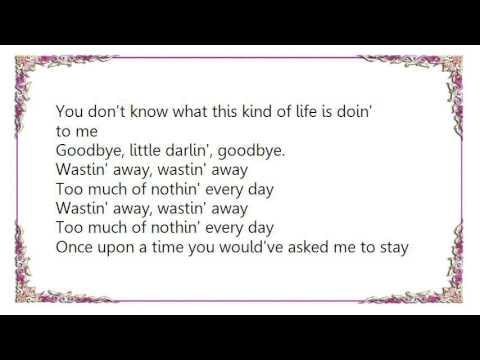 Gerry Rafferty - Wastin' Away Lyrics