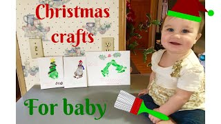 Christmas Crafts For Baby! | Footprint Art!!