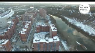 Микрорайон Весенний в Новосибирске. Вид с воздуха. Allnewhomes.ru