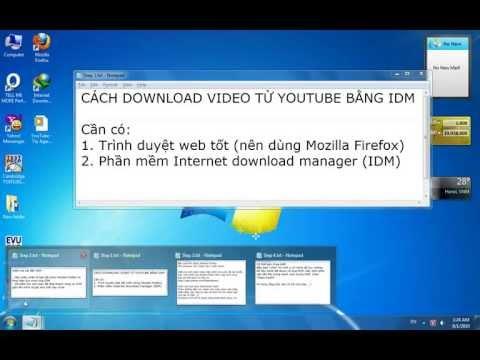 huong dan download video từ youtube bằng IDM