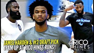James Harden & Marvin Bagley III TEAM UP at Rico Hines Runs! Andre Drummond Looking Scary!
