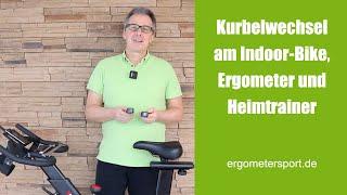 Kurbelwechsel am Ergometer und Indoor Cycle