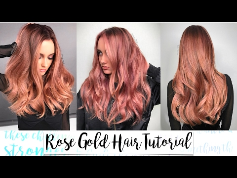Rose Gold Hair Tutorial