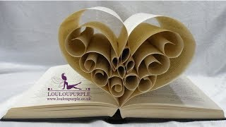 How To Make Book Art. Heart.