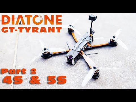 LOS testflights on 4S & 5S with the Diatone 2018 GT-Tyrant :)