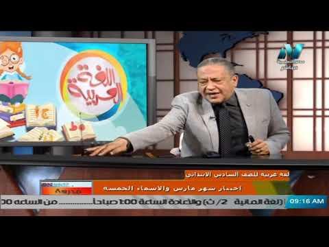لغة عربية للصف السادس الابتدائي ( ترم 2 ) الحلقة 4 - اختبار شهر مارس & نحو الاسماء الخمسة
