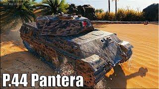 P.44 Pantera ДАМАГЕР World of Tanks лучший бой ст Италии 8 уровень