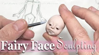 Polymer Clay Fairy Face Sculpting