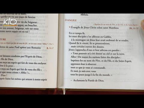 Dimanche de la Sainte Trinité B- Évangile
