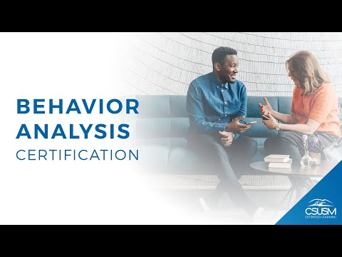 Applied Behavior Analysis Certificate at CSUSM - YouTube