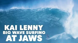 Go Behind Kai Lenny's 20ft Jaws Lip Drop