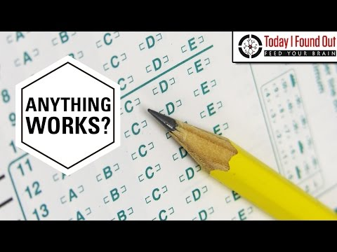 Why You Used to Have to Use Number 2 Pencils on Scantrons (and Why Pencil