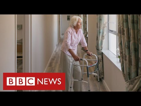 """Relatives say ban on care home visits is """"breach of human rights"""" and plan legal action - BBC News"""