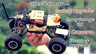 RC Rock Crawler PRO modification   Upgrading Camera, Battery, Radio Range, Steering  
