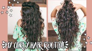 Curly Hair Routine(2B/2C Curls)   Natural Curly Hair   Mamaearth, Wow, Fix My Curls   Asmi Pahwa
