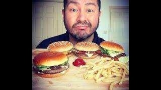 MUKBANG!!! McDonald's Signature Crafted Burgers! - Video Youtube