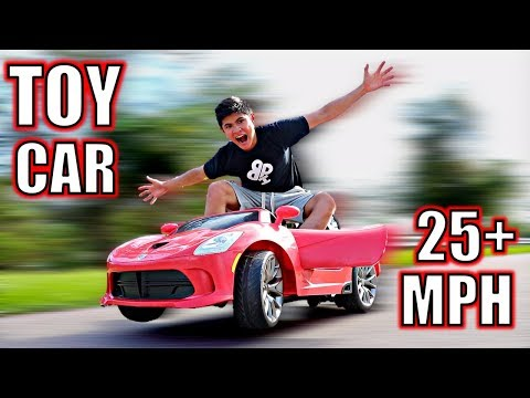 DIY ELECTRIC TOY CAR!! (25+MPH)