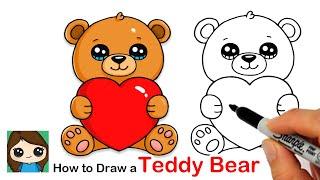 ציור דובי עם לב