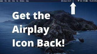 Get AirPlay Icon Back on MacBook Menu Bar macOS Catalina - Quick Fix!