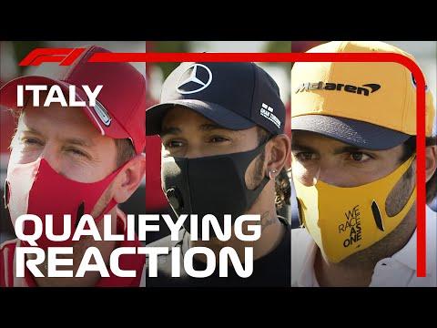 F1イタリア・モンツァ予選を終えたトップドライバー達のコメント・インタビュー動画