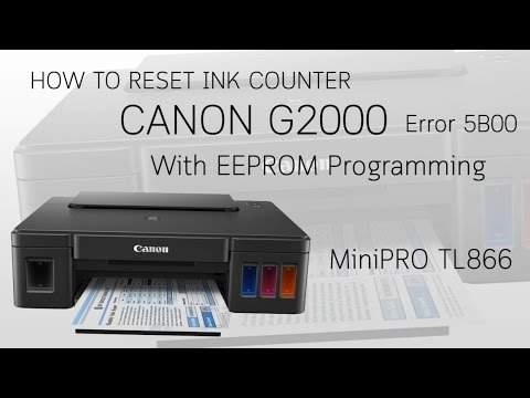 How to reset ink counter Canon G2000 Error 5B00