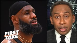 Stephen A. supports LeBron's decision not to wear a message on his jersey | First Take