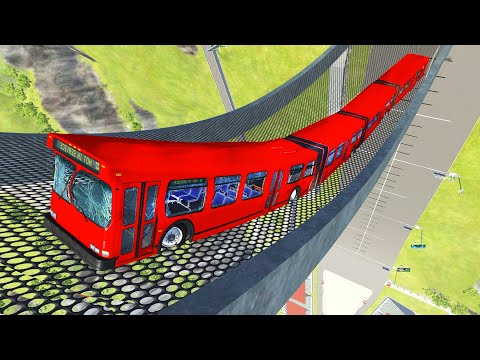 Articulated Bus Crashes #19 - BeamNG DRIVE   CrashTherapy