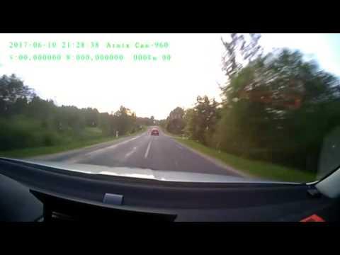 Погоня за пьяным водителем в Белоруссии