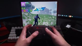 Playing Fortnite MOBILE With A CONTROLLER! (controller Support Added)