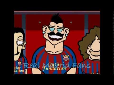 Real Madrid vs Barcelona - Funny Cartoon / How to steal a tactic 2011-2012 HD