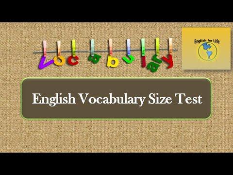 80 English Vocabulary Size Test #English_vocabulary