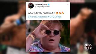UFC Fighters React to Francis Ngannou KO of Alistair Overeem UFC 218 - MMA Crazy