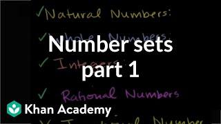 Number Sets 1