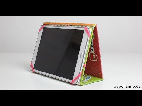 Cómo hacer funda para tablet con papel y cartón