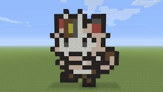Minecraft Pixel Art - Meowth Pokemon #052