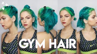 GYM HAIRSTYLES FOR SHORT HAIR