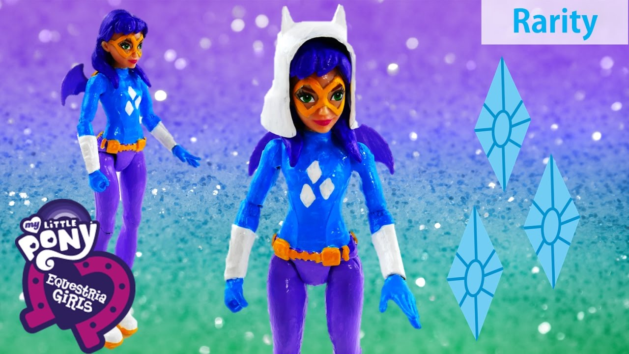 DC Super Hero Girls Batgirl Transforms into My Little Pony Rarity Doll Custom Makeover