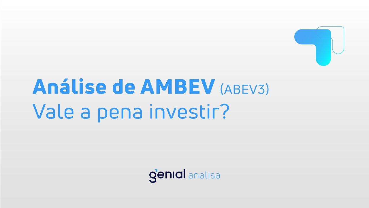 Thumbnail do vídeo: Análise de AMBEV (ABEV3): Vale a pena investir? TUDO SOBRE A EMPRESA