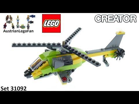 Vidéo LEGO Creator 31092 : L'aventure en hélicoptère