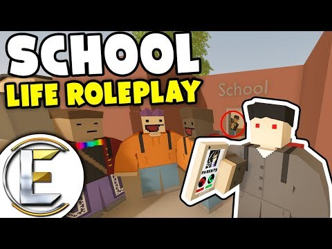 School Life Roleplay - Unturned RP (The School Teacher Gone Crazy) Funny Moments