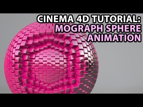 Cinema 4D Tutorial: Mograph Sphere Animation [Beginner]