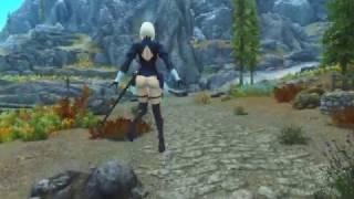 [Elder Scrolls V : Skyrim] Light Armor MOD NieR: Automata 2B Yorha (CBBE)