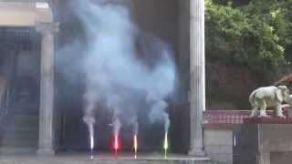 preview picture of video 'Testing Fountains In The Factory, Liuyang, China'